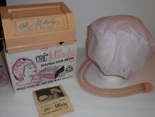 Vtg Chic Milady Electric Hair Dryer W/ Washable Hood & Hose Works Clean 1960's