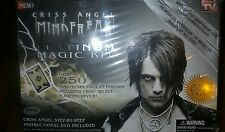 (NEW) CRISS ANGEL MINDFREAK PLATINUM MAGIC KIT MAGICIAN SHOW 250 TRICKS W/ DVD