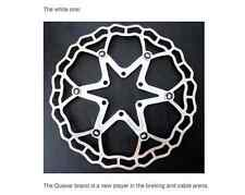Quaxar Axim WHITE floating disc rotor 160mm Ultralight c69g! CX MTB Road +bolts