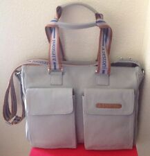 A. TESTONNI MENS $2000 LIGHT GRAY 100% LEATHER BAG NWOTAG ITALY ����