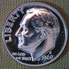1969 S Proof Roosevelt Dime 10 Cents United States Coin
