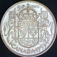 1953 Canadian Silver 50 Cent Coin - #1158