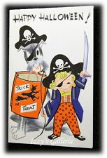 Vintage Stanley Art Guild Greetings Happy Halloween Pirate Boy Card RARE