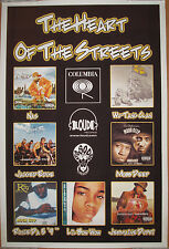 HEART OF THE STREETS, Columbia promo poster, 2001, 24x36, EX, Wu-Tang, Nas, rap