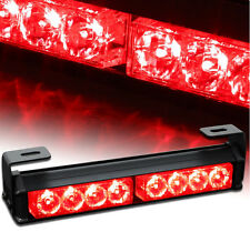Bright Car 8 LED Warning Strobe Light Recovery Beacon Emergency Bar Lamp Red 12V