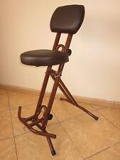 Stehhilfe Stehhocker Stehsitz im BRAUN 6 cm dick ergonomischer Sitz bis130 kg