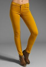 Current Elliott Sexy Skinny Low Rise Soft Denim Ankle Jeans in Mustard NWT 25