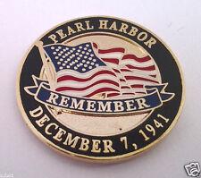 PEARL HARBOR REMEMBER WORLD WAR II Military Veteran Hat Pin P14981 EE