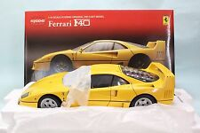 Kyosho 1/18 Ferrari F40 Yellow 08411Y First Edition (Road Version) Near-Mint