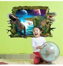 3D Dinosaur Jurassic World Wall Sticker Vinyl Decal Kids Room Decor Home Mural