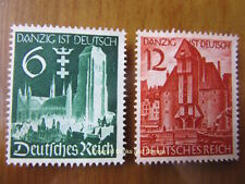 EBS Germany 1939 Danzig absorbed into Reich Michel 714-715 MNG
