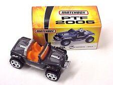 Matchbox 2006 Pre Toy Fair Jeep Hurricane in custom box gun metal gray