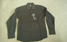 Mens Brown with white spots Shirt size M