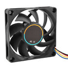 70mmx15mm 12V 4 Pins PWM PC Computer Case CPU Cooler Cooling Fan Black SY