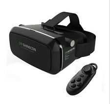 SHINECON 3D VR Vidrio Google Cardboard Realidad Virtual Auriculares Bluetooth