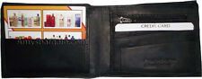 New man's wallet 6 credit card space 2 bill folds zip change purse coin case NWT