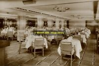rp8655 - Cunard Liner - Queen Mary - Tourist Dining Room - photo 6x4