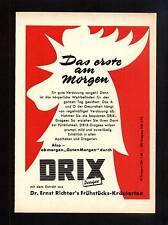 3w73/ Alte Reklame - ca. 1960 - Dr. Ernst Richter´s DRIX Dragee