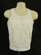 Beautyko Compression Shirt Slimming Firming Tightening Enhance Abs White Sz XL