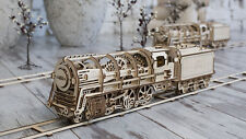 Ugears - Wooden Mechanical Train Assembly Moving Kit 3D Puzzle UGears Laser