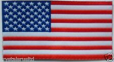 Embroidery USA flag iron-on transfer patch applique art
