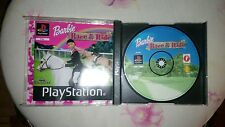 PS1 GAME BARBIE RACE & RIDE-SONY PLAYSTATION-PS1-PS2-PS3-PAL-ITA-PSX COVER ROTTO