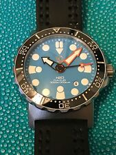 H20 KALMAR 2 Divers Watch Swiss ETA 2824 RARE LIGHT BLUE DIAL!!!