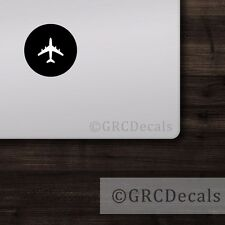 Airplane - Mac Apple Logo Laptop Vinyl Decal Sticker Macbook Pilot Aviator