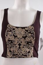 2014 NWT WOMENS ELEMENT JANIS TANK TOP $26 M black gold bra shirt