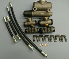 WILLYS MB BRAKE CYLINDER AND FLEXY HOSE SET INCLUDES MASTER AND WHEEL CYLINDERS