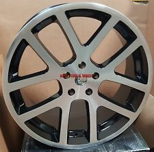 "22"" SRT10 Viper Style Rims Black Machined Wheels Fit Dodge RAM 1500 Durango Sale"
