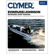 CLYMER SERVICE REPAIR SHOP MANUAL JOHNSON EVINRUDE OUTBOARD MOTOR 50 HP 95-03