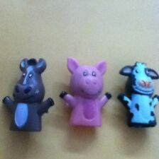 6 Zoo Animal Finger Puppets Fun Party Favor Free Shipping