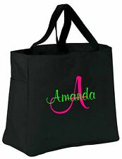 6 Personalized Monogram Tote Bags Bride Bridal Bridesmaid Gift Wedding Teacher