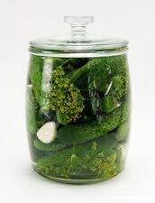 Gurkenglas, Einmachglas, Einmachgläser, Einweckglas 10 l aus Glas mit Deckel