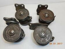 4 ANTIQUE VINTAGE 1906-1921 Hamilton Cast Iron Double Wheel Vintage Casters