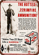 "1968 CCI .22 Ammunition 10"" x 7"" Reproduction Metal Sign"