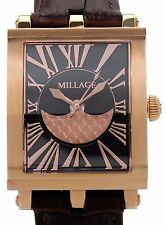 MILLAGE EVREUX COLLECTION ML0073-B SWISS QUARTZ BLACK FACE UNISEX WATCH. BR NEW