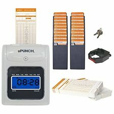 Electronic Time Clock Punch Card Machine Employee Work Hours Payroll Recorder
