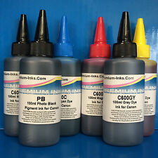 600ml PIGMENT/DYE Refill Ink CANON Pixma IP8750 MG6350 MG7150 MG7550 Non OEM
