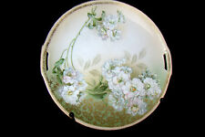 VINTAGE R S TILLOWITZ SILESIA HAND PAINTED HANDLED CAKE PLATE~ WHITE FLORAL