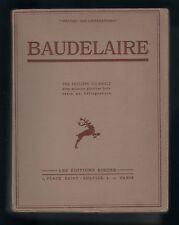 Philippe Soupault BAUDELAIRE 60 planches héliogravure EO 1931