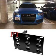 Front Bumper Tow Hook License Plate Mounting Bracket Holder For Audi A4 A5 A7