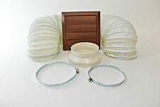 PORTABLE AIR CONDITIONING 3 METRE VENT HOSE EXTENSION KIT + BROWN WALL VENT FLAP