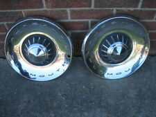 """2  VINTAGE 14"""" PLYMOUTH HUB CAPS WHEEL COVER TYPE THINK 1960s GOOD FOR RAT ROD"""