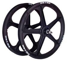 "ACS Z-mag 5-spoke Mag BMX Wheels Black 20"" Set Freewheel"
