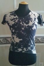 Paper Heart Tie Dye SHIRT with Skull head rivet and back crisscross detailing XL