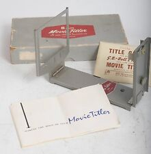 Vintage Rank 624 8mm Movie Titler Original Box and Instructions
