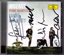 FAURE QUARTETT Signed MOZART Piano Quartet K.478 493 CD Klavierquartett Mommertz