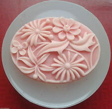 Flower Cameo silicone mould resin fimo food use polymer clay plaster mold icing